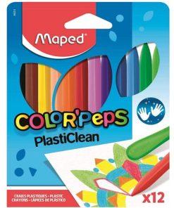 Maped Creioane Cerate PlastiClean set 12 culori