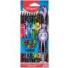 Maped - Creioane colorate Color Peps Monster set 12 culori