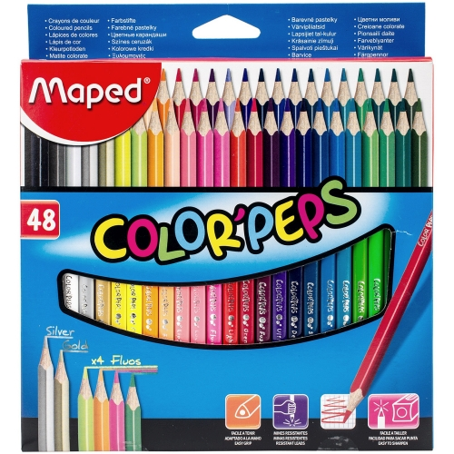 Maped - Creioane colorate triunghiulare Color Peps set 48
