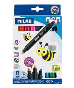 Milan - Carioca Maxi Bicolor vârf conic set 8 80090