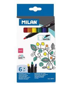 Milan Marker Textile set 6 culori