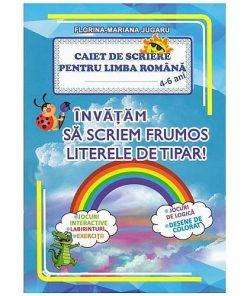 Omnibooks - Caiet de scriere pentru preșcolari Limba Română literele de tipar 4-6 ani