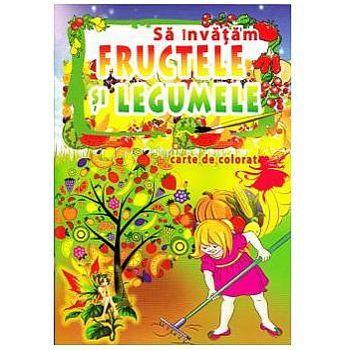 Omnibooks Carte de colorat Să învățăm Fructele și Legumele