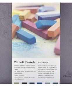Phoenix Cretă uscată Soft Pastels set 24 culori CM24SP
