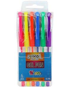 S-cool Pix cu gel set 6 culori Neon SC596