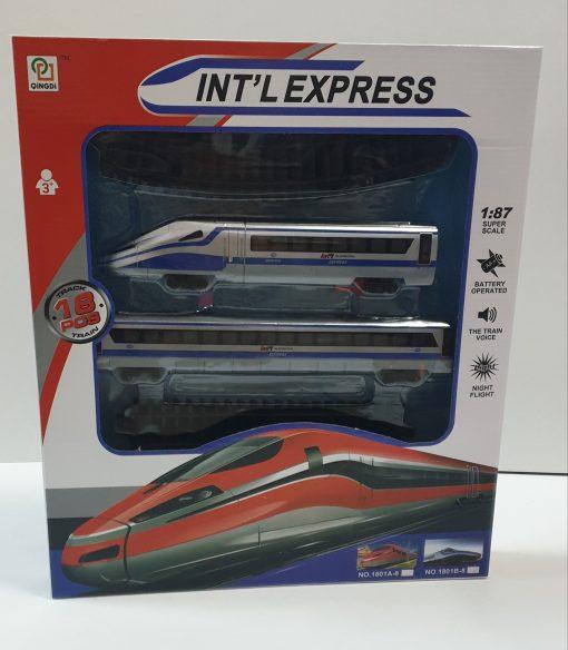 Roben - Play set trenulet Int'l Expres cu baterii 1801B-8