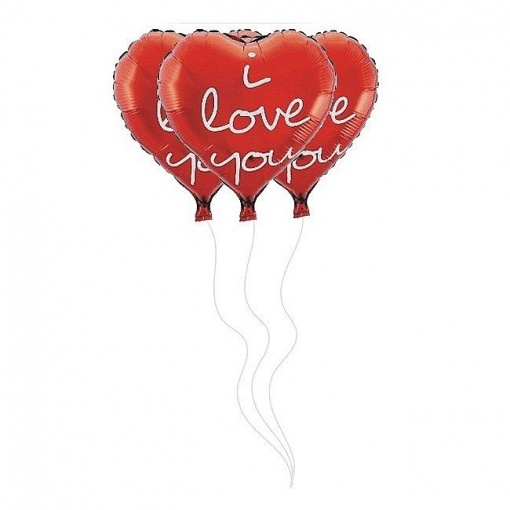 Baloane Folie Inima 51 cm I Love You rosu 219232