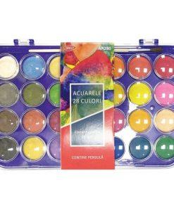 Daco - Acuarele 28 culori + pensula AR280