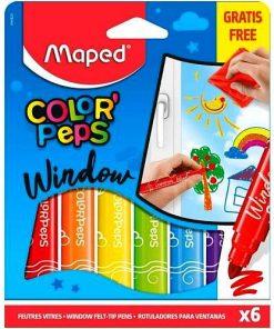 Maped Carioci Color Peps pentru geam set 6 culori