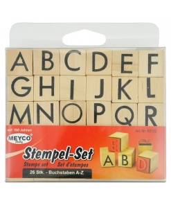 Meyco Stampile Alfabet 65102