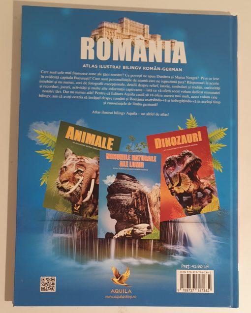Atlas bilingv roman-german Romania, editura Aquila