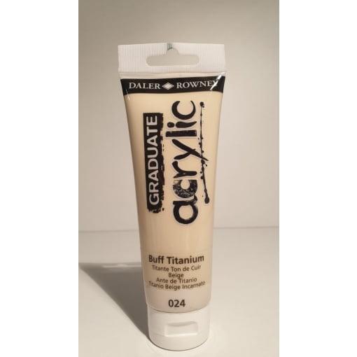 Daler Rowney - Culori acrylic graduate Buff titan 120 ml