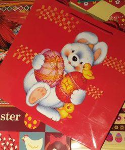 Crist - Pungă cadou motive de Paște mărime XL