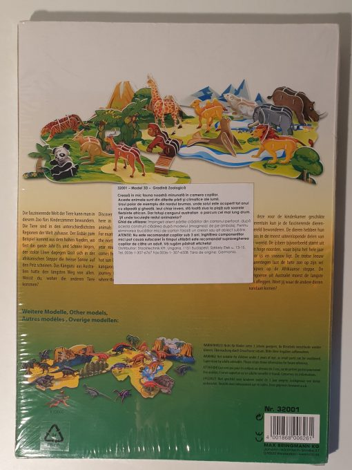 Puzzle 3D dinozauri si animale Folia 3200 ModelLogic