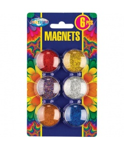 Centrum Magneti Colorati Glitter Rotunzi 30 mm