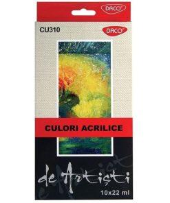 Daco Culori acrilice CU310 set 10 culori