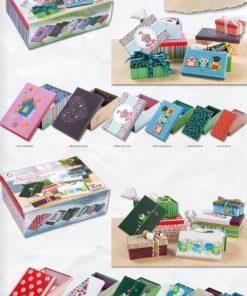 Folia - Cutii de cadou din carton cu motive set 6 buc