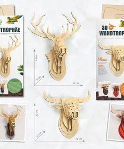 Folia - Trofee 3D de perete din lemn pentru decorare