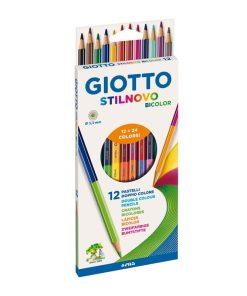 GIOTTO Creioane Colorate Bicolor set 12