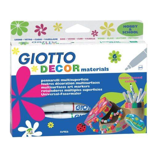 GIOTTO Marker Decor Materials set 6 culori