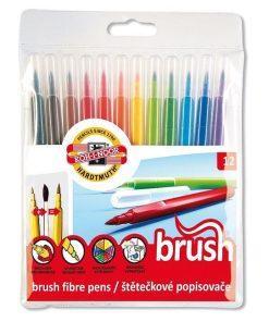 Koh-I-Noor - Carioci Colorate Paint Brush tip pensulă set 12 culori