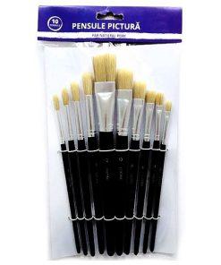 Lucas Art Set 10 pensule din par natural de porc 8010200