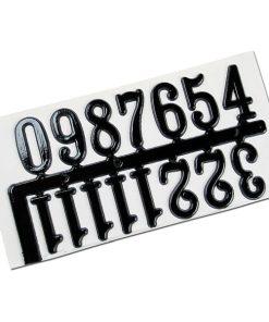 Meyco - Set Cifre ceas Negre 28473, inaltime 20mm
