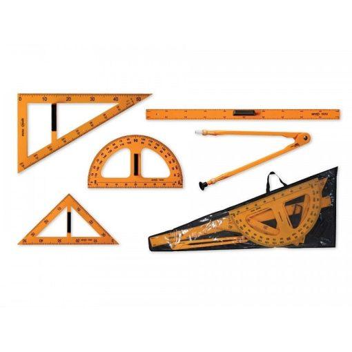Set Instrumente geometrice pentru tablă 5 piese