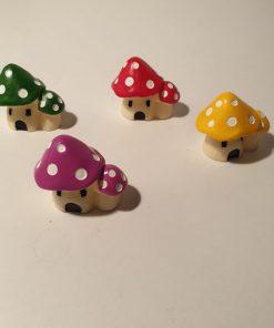 Mini figurine casute ciupercute Pentart 389569