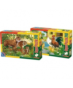 D-Toys Super Puzzle 240 piese Animale 60211