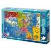 D-Toys Super Puzzle 240 piese Harta Europa 50663-01