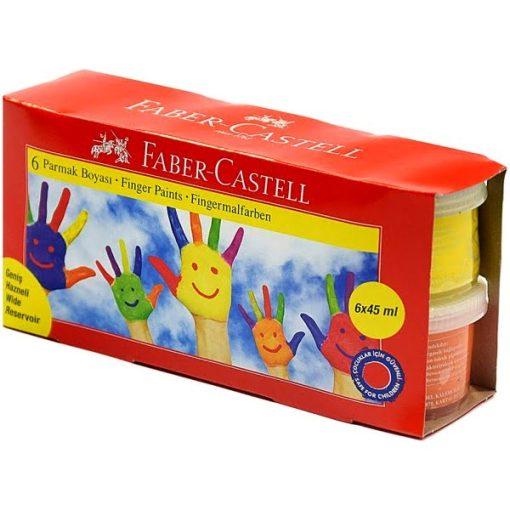 Faber-Castell - Set 6 culori pictura cu degetele