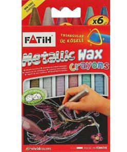 Fatih Creioane cerate set 6 culori metalice 50180