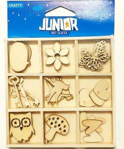 Junior Set Decorațiuni Lemn 137226