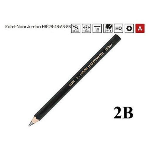 Koh-I-Noor Creioane grafit Arta Jumbo 1820