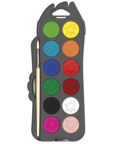 Maped Color Peps Acuarele 12 culori cu pensula