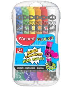 Maped Tempera set 12 culori cutie plastic