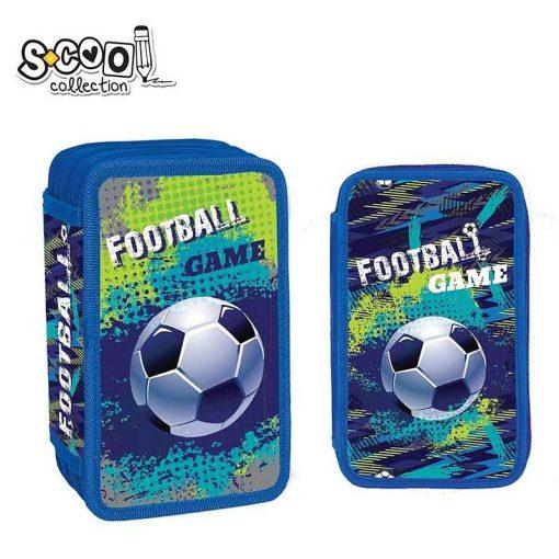 Penar S-cool Collection echipat 3 fermoare pentru baieti Fotbal SC1327