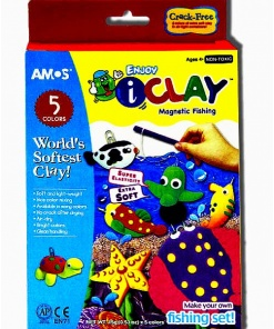 Set AMOS Plastilina iClay 4 culori Magnetic Fishing IC15P4MF