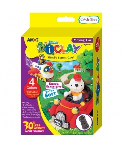 Set AMOS Plastilina iClay 4 culori Moving Car IC15P4MC