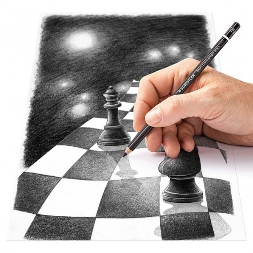 Staedtler - Creion Grafit Mars Lumograph Black 100 diverse tarii