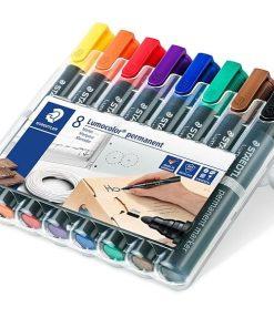 Staedtler - Permanent Marker Lumocolor 352 set 8 culori