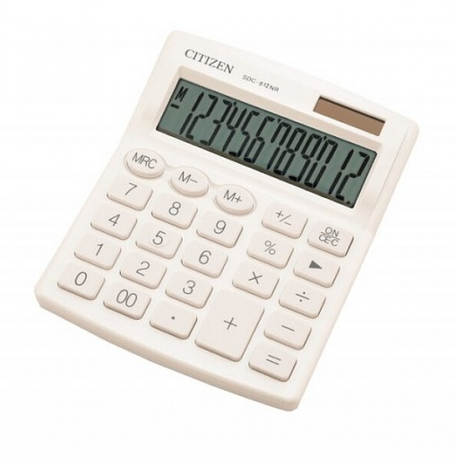 Citizen Calculator de birou SDC-812 Alb