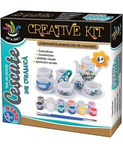 D-Toys - Set Creativ de pictat cescute din ceramica 74027