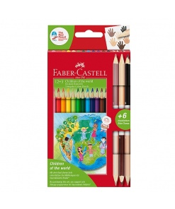 Faber-Castell Creioane Colorate Children of the World