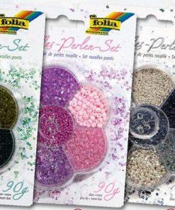 Folia Mix perle Rocailles + snur nylon