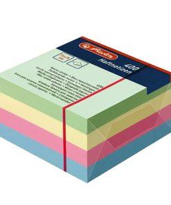 Herlitz Bloc Notite adeziv 75x75mm 400 coli culori pastel 790758