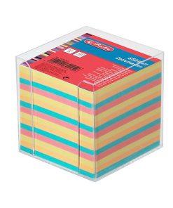 Herlitz Cub hârtie colorata 9x9cm 650coli cu suport 1600253