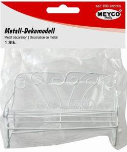 Meyco Mini bancuta decorativa din metal 81125