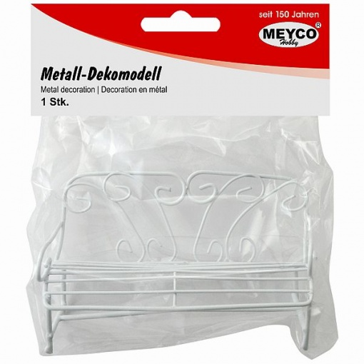 Meyco Mini bancuta decorativa din metal 81125